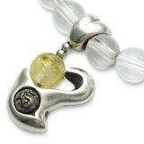 梵字アクセサリー シルバーアクセ パワーストーンブレス「心の環」 ルチルクオーツ 水晶SA 6mm玉
