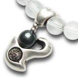 梵字アクセサリー シルバーアクセ パワーストーンブレス「心の環」 ヘマタイト 水晶SA 6mm玉