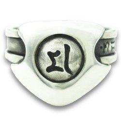 画像2: 梵字アクセサリー シルバー リング:指差神(しさしん)改 梵字アクセサリー