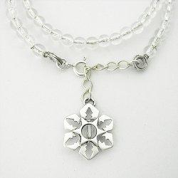 画像5: 雪の結晶アクセサリー ブレス 「氷雪の結晶」 腕輪 水晶(我想創作工房)