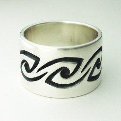 画像1: シルバー リング 「風 かぜ」 指輪 (我想創作工房)