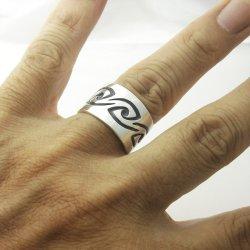 画像3: シルバー リング 「風 かぜ」 指輪 (我想創作工房)