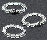 梵字 シルバー パワーストーン水晶ブレス:胎蔵界(たいぞかい) 20号 水晶AAAAA 梵字アクセサリー