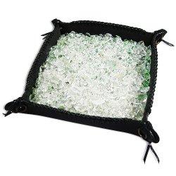 画像1: さざれ水晶&オリジナルレザートレイ 浄化セット (浄化用水晶 パワーストーン 浄化)