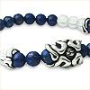 梵字シルバーアクセサリー ラピスラズリ パワーストーンブレス 幸運の青いブレス 運流の輪 神音梵字SVR