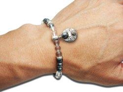 画像3: 梵字アクセサリー シルバーアクセ パワーストーンブレス「守の環」 ヘマタイト 水晶SA 6mm玉