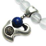 梵字アクセサリー シルバーアクセ パワーストーンブレス「心の環」 ラピスラズリ 水晶SA 6mm玉