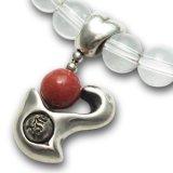 梵字アクセサリー シルバーアクセ パワーストーンブレス「心の環」 ロードナイト 水晶SA 6mm玉