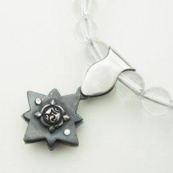 画像3: 梵字アクセサリー パワーストーンブレス 「結晶の環」 水晶 クリスタル (ブレスサイズ16号)
