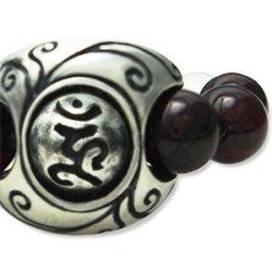 画像1: 梵字アクセサリー パワーストーン シルバー リング【魂玉の指輪】シリーズ :蔦(つた)ガーネット