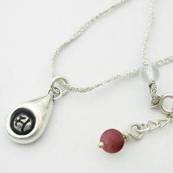 画像1: 梵字アクセサリー シルバーペンダント:【魂の雫(しずく)】ロードナイト/金銀糸:銀