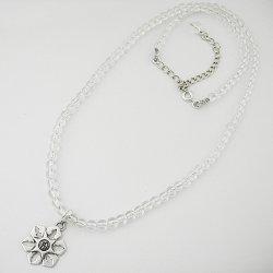 画像3: 梵字アクセサリー シルバーアクセ ペンダントS:氷雪の結晶 水晶ネックレス 雪の結晶