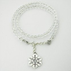 画像3: 雪の結晶アクセサリー ブレス 「氷雪の結晶」 腕輪 水晶(我想創作工房)