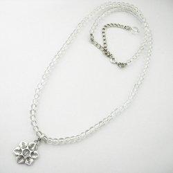 画像4: 雪の結晶 シルバーアクセ ペンダント「氷雪の結晶」 水晶ネックレス(我想創作工房)