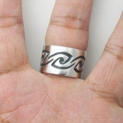 画像4: シルバー リング 「風 かぜ」 指輪 (我想創作工房)