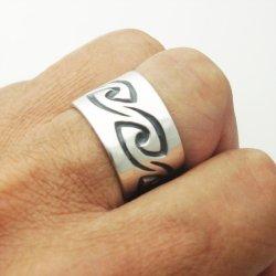 画像2: シルバー リング 「風 かぜ」 指輪 (我想創作工房)