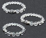 梵字 シルバー パワーストーン水晶ブレス:金剛界(こんごうかい) 20号 水晶AAAAA 梵字アクセサリー